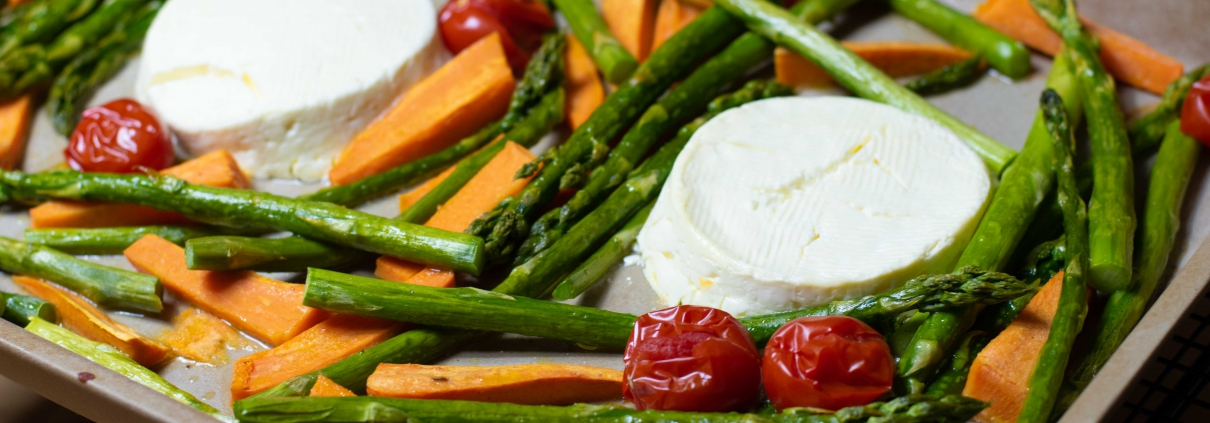 Rezept Grüner Spargel mit Süßkartoffeln