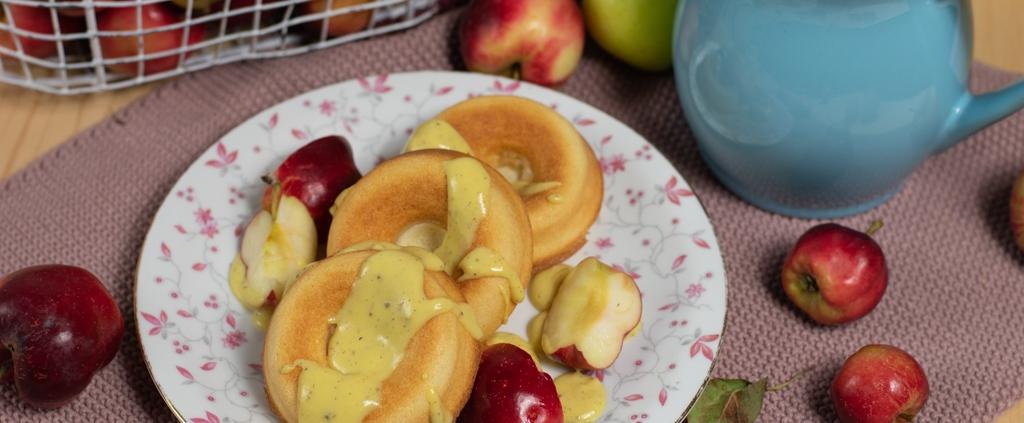 Brigittes Apfelküchle in der Donut-Backform von Pampered Chef