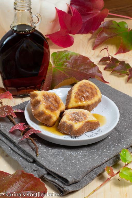 Backofen Pancakes mit Ahornsirup