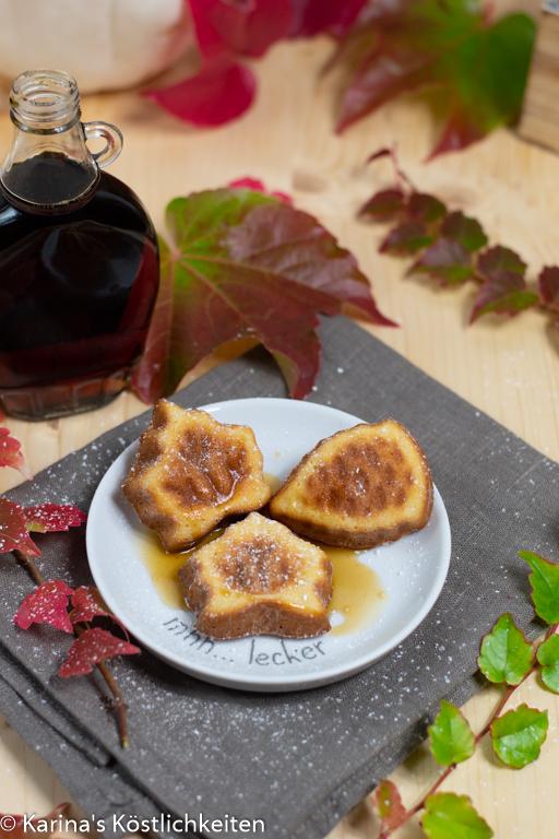Pancakes aus dem Backofen mit Ahornsirup