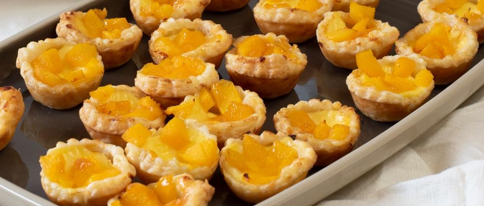 Rezept für Pfirisch-Pudding-Törtchen