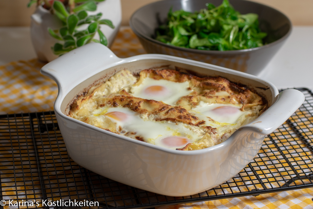 Rezept für Lasagne a la Carbonara