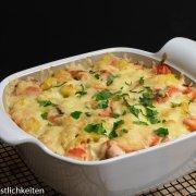 Rezept Herzhaftes Kartoffel-Hähnchen-Gratin mit Bacon im Bäker von Pampered Chef®