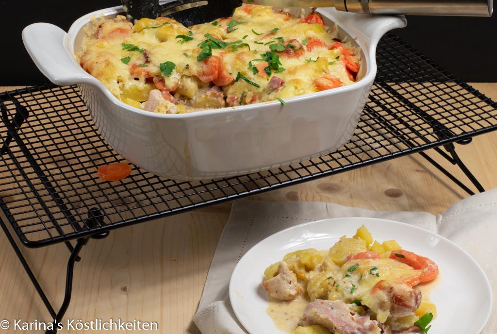 Herzhaftes Kartoffel-Hähnchen-Gratin mit Bacon im Bäker von Pampered Chef®