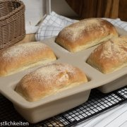 Mini Ciabatta Brot aus der Minikastenform Pampered Chef