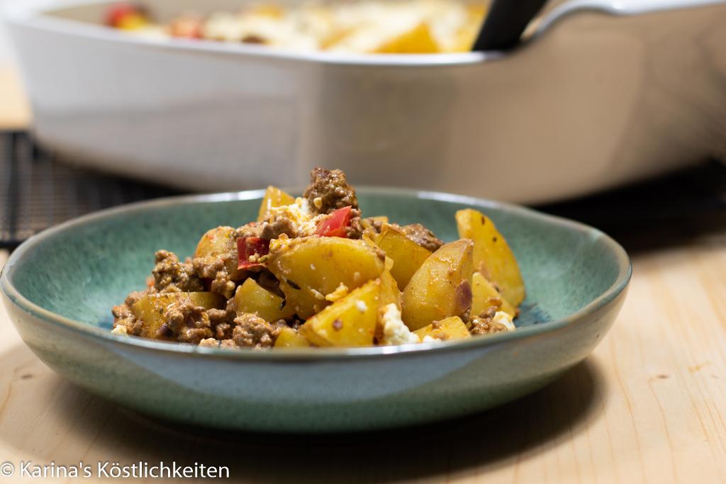 Rezept Kartoffel-Hack-Auflauf mit Feta Pampered Chef