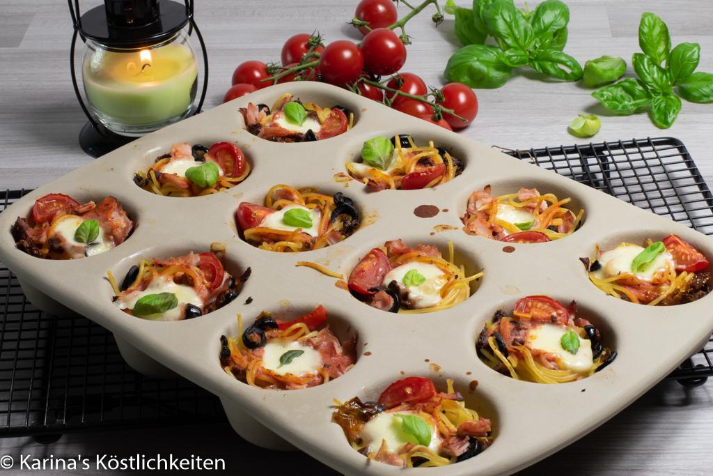 Rezept Mediterrane Spaghetti-Muffins Pampered Chef