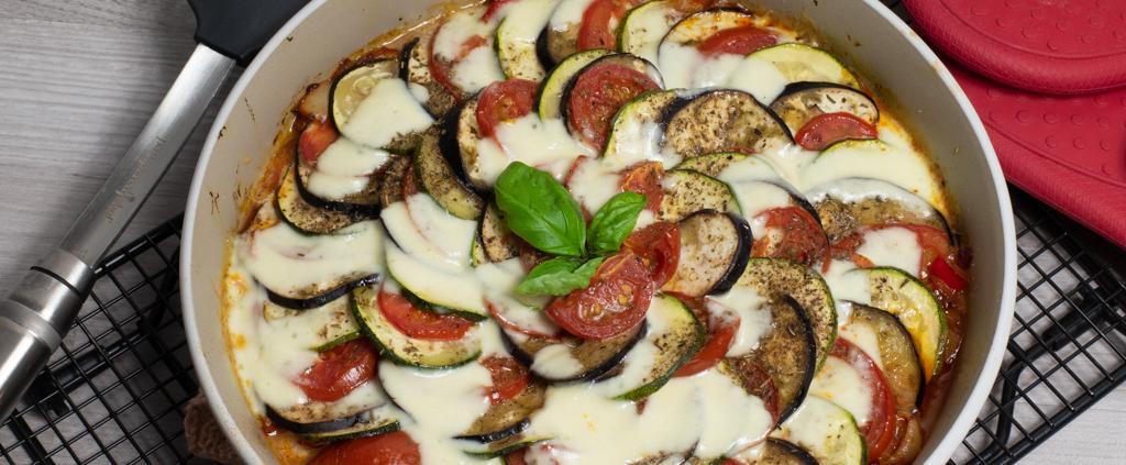 Ratatouille mit Mozzarella Pampered Chef