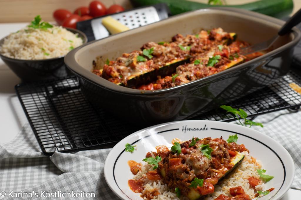 Rezept gefüllte große Zucchini a la Mama Pampered Chef®