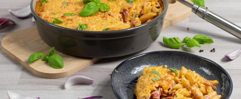 Rezept Nudel-Schinken-Gratin Pampered Chef