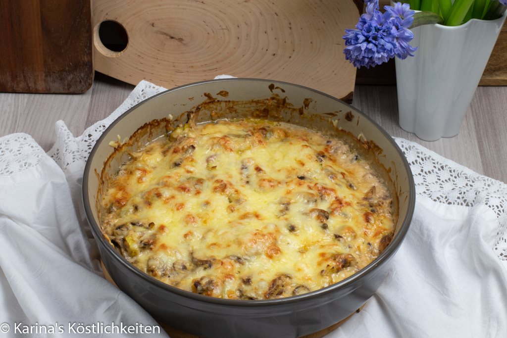 Rezept Ofen-Geschnetzeltes mit Champignons, Lauch & Spätzle