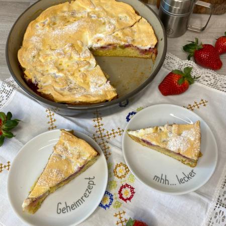 Rezept Rhababer-Erdbeer-Kuchen mit Baiser