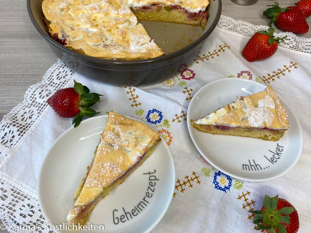 Rezept Rhababer-Erdbeer-Kuchen mit Baiser Pampered Chef