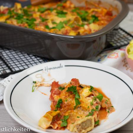 Maultaschen-Zucchini-Auflauf Pampered Chef®