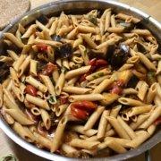 Rezept Penne All' Arrabiata mit Auberginen und Feta