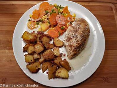 Hühnchen mit Gemüse und Kartoffeln