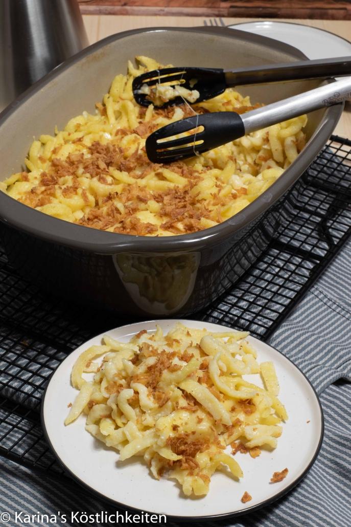 Rezept Käsespätzle aus dem Backofen Ofenhexe Pampered Chef