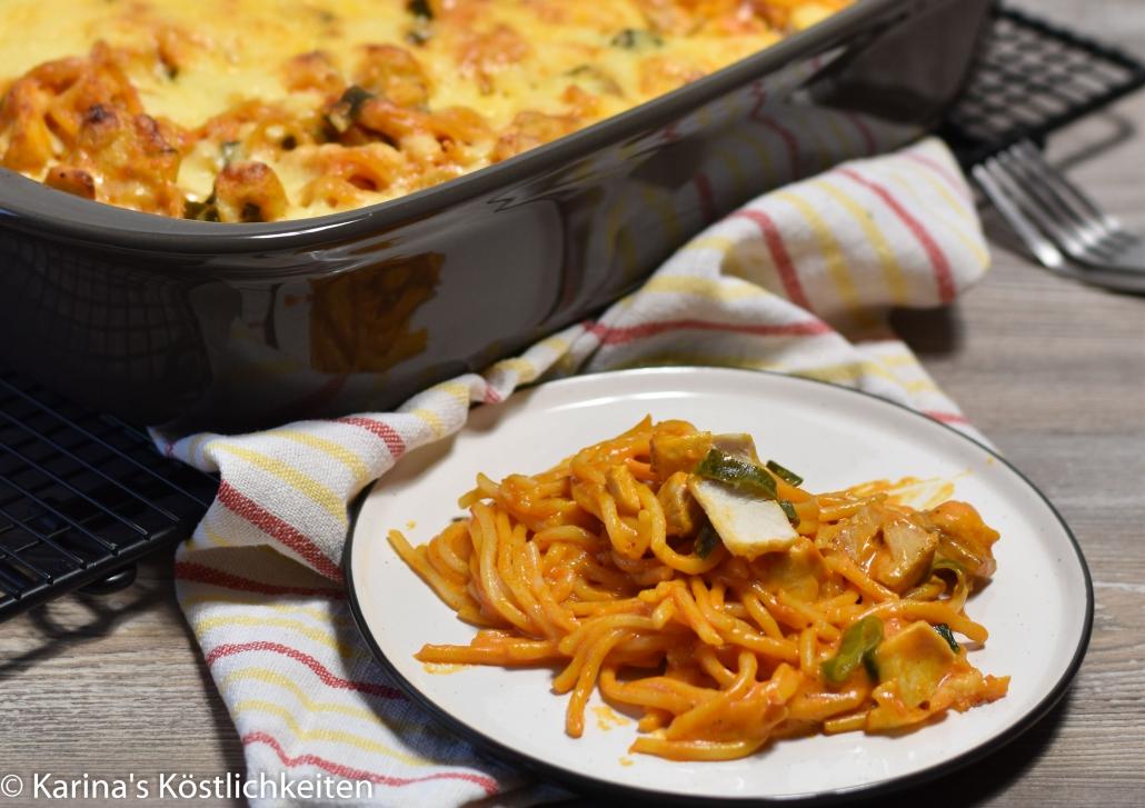 Rezept Lachs-Spaghetti-Auflauf