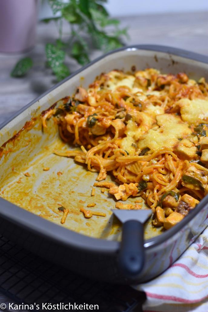 Rezept Lachs-Spaghetti-Auflauf Ofenhexe Pampered Chef