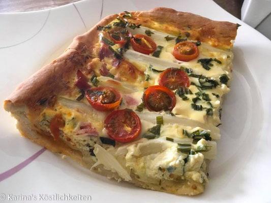 Spargel-Pizza mit Ricotta und Bärlauch mit Pampered Chef